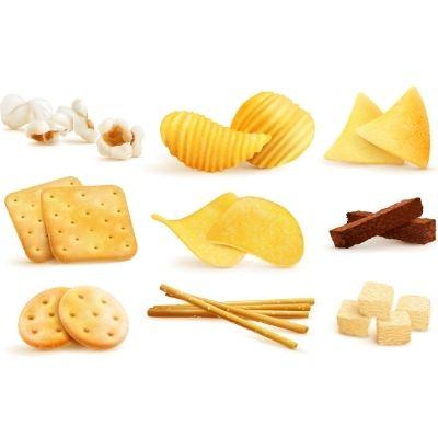 Снеки: чіпси, арахіс